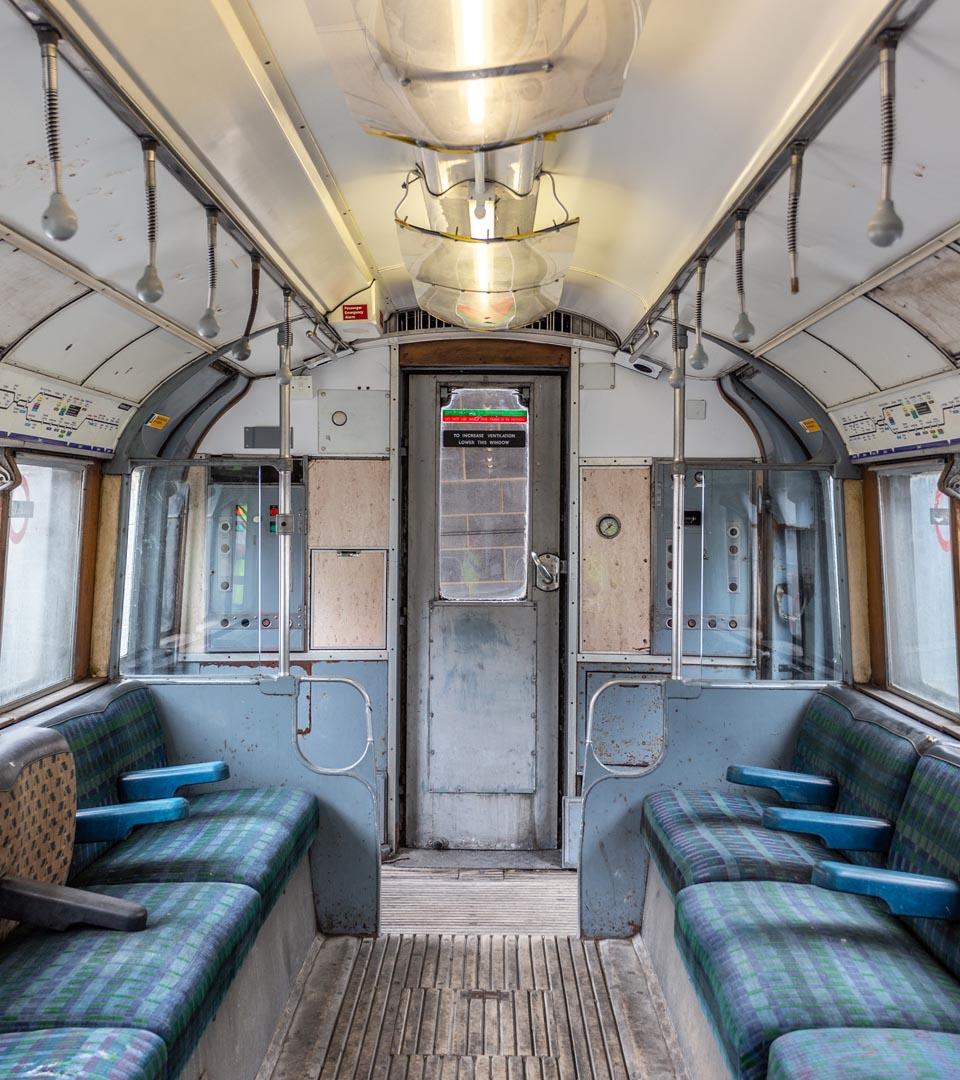 inside an old train carriage - Gravesend Metropolitan Police Tactical Training Centre Gravesend
