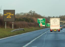 motorway sign - Think! Don't Drink and Drive