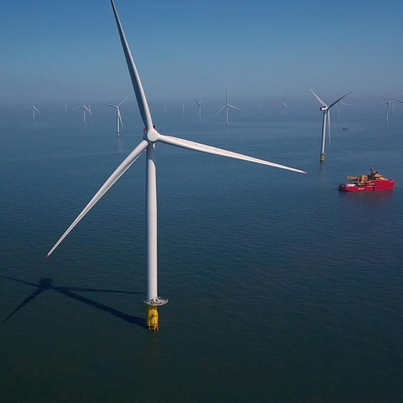 Race Bank Offshore Wind Farm, Norfolk, England.