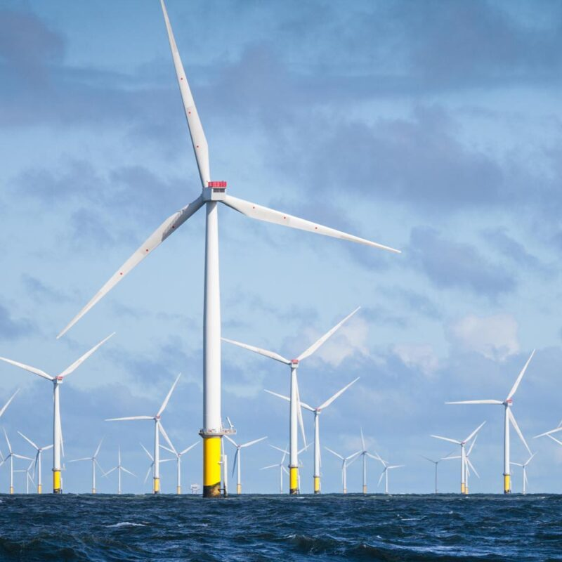 Walney Extension Offshore Wind Farm, Cumbria, England.
