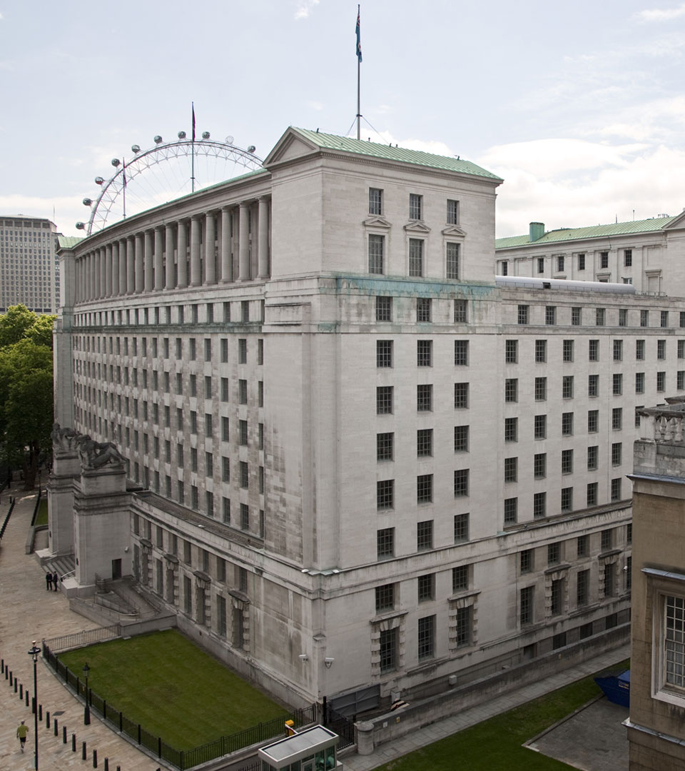 Ministry of Defence, Whitehall, London, England.