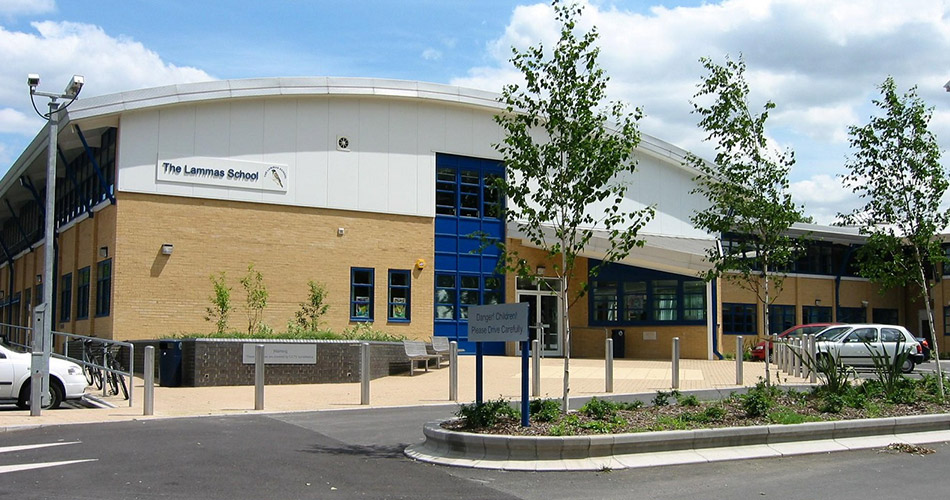 Image featuring a picture of the Lammas School building