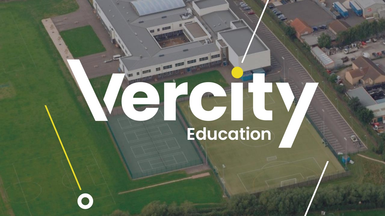 Vercity sectors education header graphic