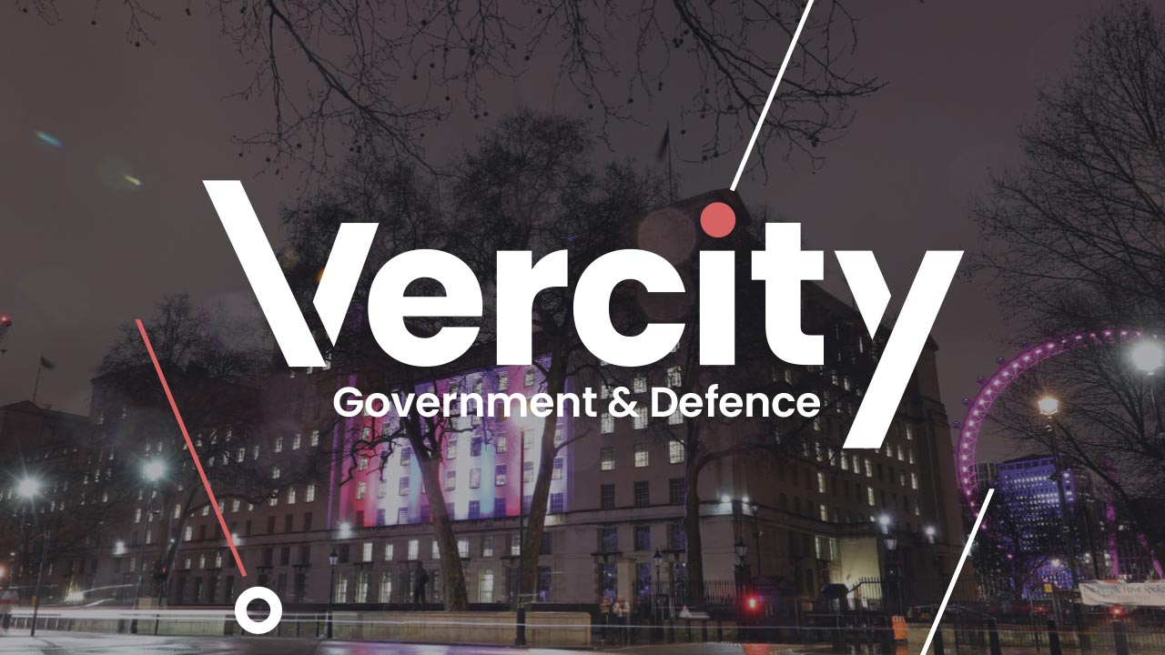Vercity sectors government and defence header graphic