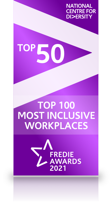 NCFD Top 50 Most Inclusive Workplaces Accreditation